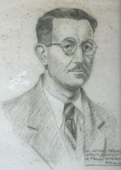JORGE GUILLERMO TELL debuxo Arturo Taracido na cadea   (anos 30) MdL